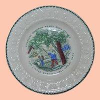 Vintage Porcelain Child's Small ABC Plate