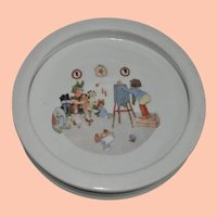 Vintage Germany Child's Plate with Nursery Scene