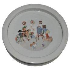 Vintage Germany Child's Plate with Nursery Scene