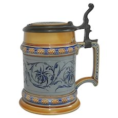 Rare Antique Villeroy & Boch Mettlach Beer Stein #1452 German