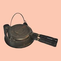 Antique Wagner Sidney Ohio Cast Iron Toy Waffle Iron