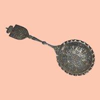 Antique Norwegian Silver Serving Spoon