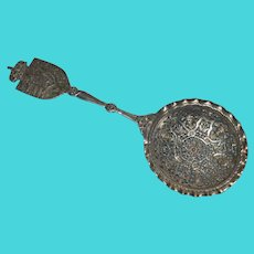 Antique Norwegian Silver Serving Spoon
