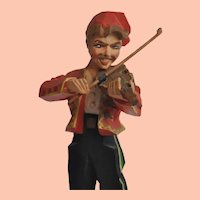 "Vintage Norwegian Hand Carved Fiddler ""Per Spelemann"" Henning Style Folk Art"