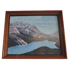 Vintage Framed Oil Painting Chickenfoot Lake, California