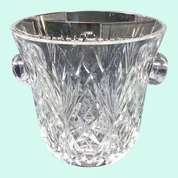 Huge & St. Louis French Crystal Chantilly Ice Bucket Signed, Gorgeous Shine