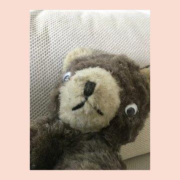 Early 1940's  Stuffed Mohair Bear cub, bell in its ear.