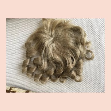 Human Hair Wig  for doll  head size 12-13