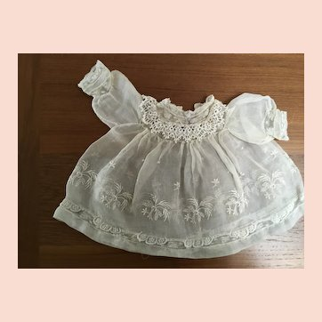 Old organza dress for baby doll