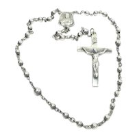 Silver Chaplet Rosary Creed Sterling Sacred Heart of Jesus Mother Mary