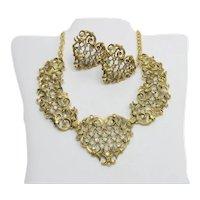 Gorgeous Jose Barrera Antoinette Necklace Earrings Set Ca 1992 Runway Designer