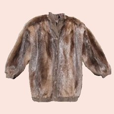 1980s Christian Dior Haute Couture Beaver Bomber Style Jacket