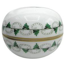 Herend Hungary Persil Pattern Cache Pot Lidded Box