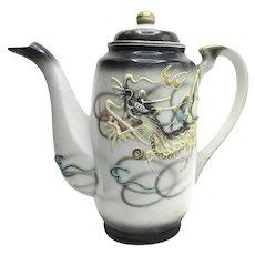 Japanese Dragonware Demitasse Small Tea Pot Moriage Gilded Handle