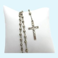 Sterling Silver Rosary Creed Catholic Confirmation Child Small