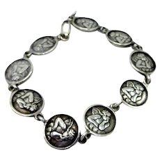 Sweet Cherub Coin Sterling Silver Bracelet