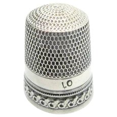 Pretty Sterling Thimble Sewing