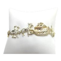 Noah's Ark Sterling Silver Bracelet Animals