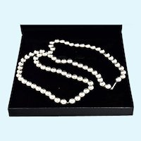 """Italian Sterling Silver Beads Necklace 30"""" Long 10mm Solid 81.9 Grams"""