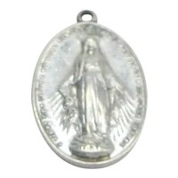 Small Sterling Miraculous Medal Child Sterling Catholic Jewelry Pendant