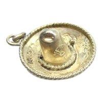 Mexican Sombrero Vintage Hat Charm Eagle Hallmark Sterling Silver