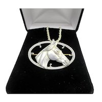 Equestrian Silver Horse Pin Pendant Sterling Cowgirl Jewelry