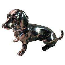 Sterling Silver Dachshund Figurine