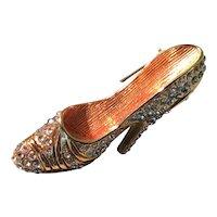 Gold Tone and Rhinestone Shoe Pin