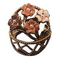 Marvella Flower Basket Pin