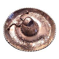 Sanborns Mexican Sterling Silver Souvenir Sombrero Trinket/Ring Dish