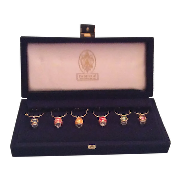 Faberge Egg Wine Charms