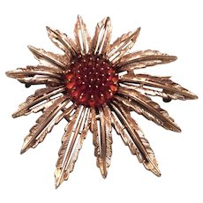 Large Sarah Coventry Floral Brooch/Pendant
