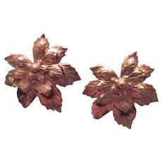 Sarah Coventry (SAC) Leaf Earrings
