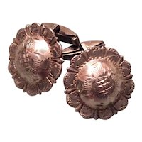 Mexican Sterling Silver Concho Cufflinks