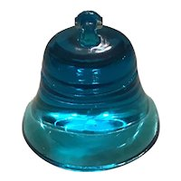 Degenhart Blue Glass Bell Paperweight