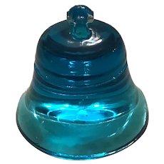 Degenhart Blue Glass Bell Paperweight
