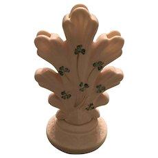 Belleek Shamrock Finger Bud Vase