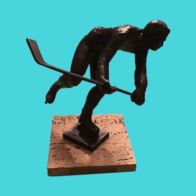 Royal Copenhagen, Sterett-Gittings Kelsey Bronze Hockey Player Figurine