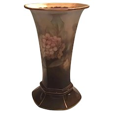 Royal Bonn Hand Painted Panel Trumpet Vase