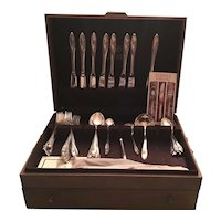 Towle Sculptured Rose Sterling Flatware-Service For 8 and Serving Pieces