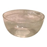 Set of Acid Etched Crystal Cereal/Dessert Bowls