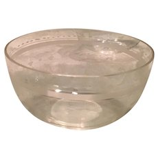 Set of Acid Etched Crystal Cereal/Dessert Bowls