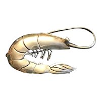 Sterling Silver Shrimp Pin