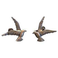 Pair of Vintage Beaucraft Sterling Silver Gull Earrings