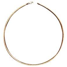 Italian Sterling Silver Serpentine Coil Choker Necklace