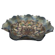 Fenton Holly Amethyst Carnival Glass Bowl
