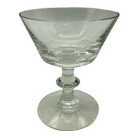 Heisey Glass Oxford Pattern Clear Champagne or Tall Sherbet