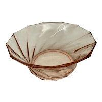 Heisey Glass Twist Flamingo Bowl