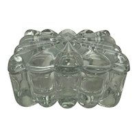 Heisey Glass Crystolite Pattern Cigarette Box and Lid