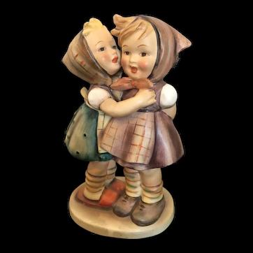 "Goebel Hummel Figurine, ""Telling Her Secret"" #196/0 TMK2 FULL BEE"
